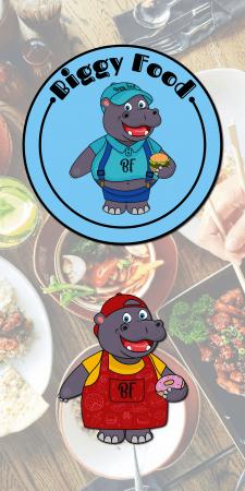 Логотип персонаж для доставки їжі