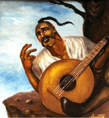 Козак Мамай (картина маслом на холсте)