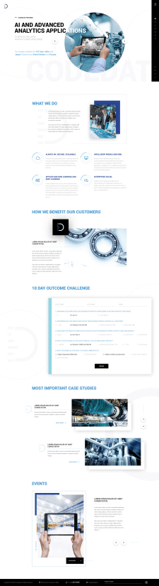 Responsive design for analytics company website