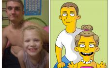 Портреты в стиле симпсон