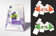 Разработка дизайна и высечки чайной продукции