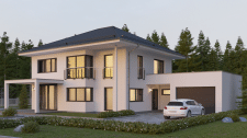 3D visualization of a modern house
