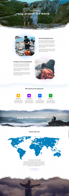 Дизайн Landing page путешествий