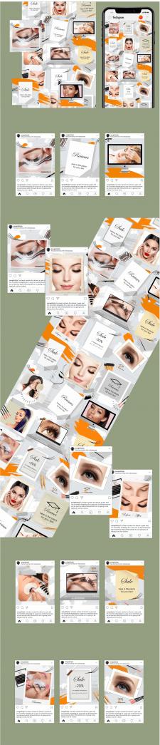 #Дизайн шаблона постов в инстаграм#