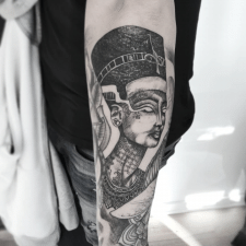Тату нефертити tattoo nefertiti