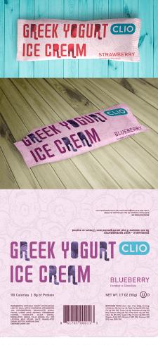 Дизайн этикетки для мороженого