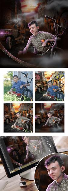 Обработка фото в Photoshop. Постапокалипсис.