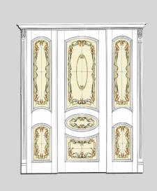 Дизайн двери с витражным стеклом