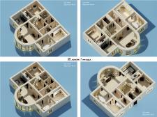 3Д макет загородного дома (114 м кв)