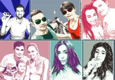 Эскизы поп арт портретов.