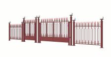 Ограждение гостиницы с воротами и калиткой