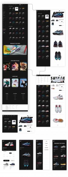 Концепт для интернет-магазина про продажи обуви