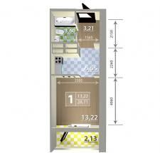 Визуализация квартир для застройщика.