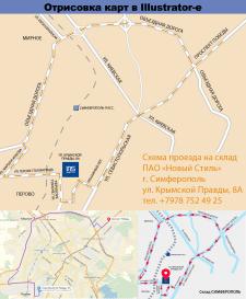 Оформление карт-схем проезда в Illustrator