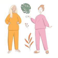 Иллюстрации для бренда одежды