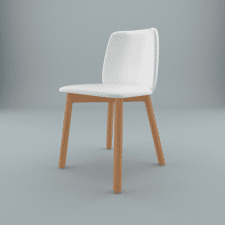 Chip Leather Dining Chair
