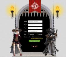 Страница регистрации онлайн игры