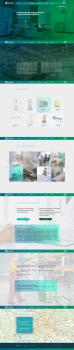Вёрстка сайта Производство медицинской мебели