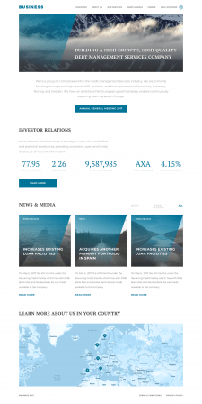 Адаптивная верстка. Landing Page - Business