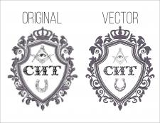 Отрисовка в вектор логотипа