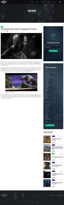 Новость игровой индустрии + публикация Wordpress