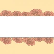открытка кремовых роз с белой вставкой для надписи
