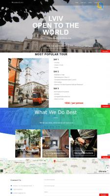 Создание сайта  ''Wonder Lviv''