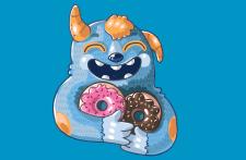 иллюстрация с авторским персонажем