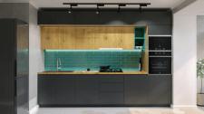Дизайн-проект 1к квартиры в Виннице. Кухня