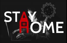 Постер на тему коронавируса #stayathome