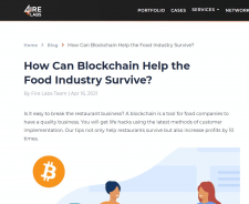 How Can Blockchain Help the Food Industry Survive?