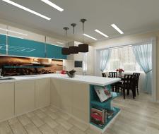 Кухня-гостиная в Киеве