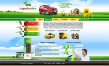 Сайт для нового топливного бренда Impuls ECO