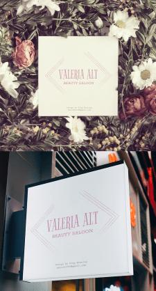 Логотип для салона красоты Valeria Alt.