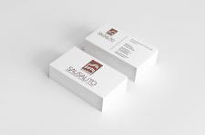 Двухсторонние визитные карточки. Sausalito Invest
