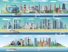 Векторные панорамы городов и континентов (part3)