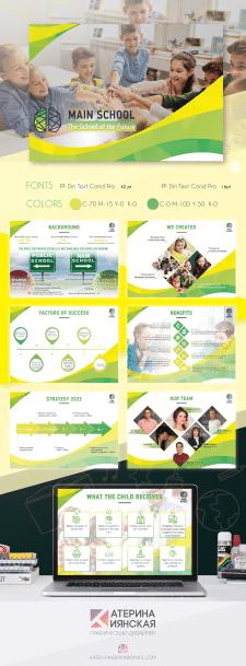 Дизайн презентации для Main School