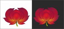 Зразок квітки для петриківського розпису