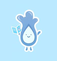 "Корпоративный логотип для компании ""Aqua Tochka""."