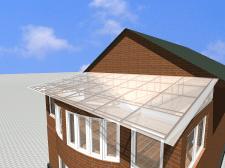 Крыша с прозрачным пластиковым покрытием