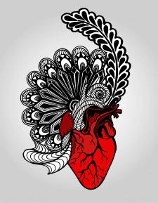 Сердце. Дудлинг