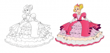 Милый детский рисунок принцесса