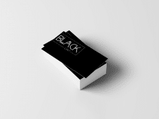 "Дизайн визитки для магазина ""only BLACK"""