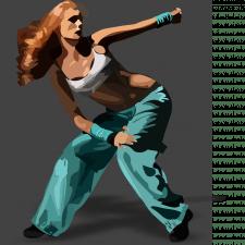 Стилизованное изображение женщины