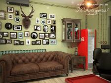 Дизайн интерьера барбершоп barbershop