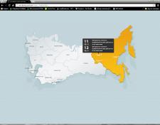 Интерактивная анимированная карта
