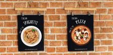 Рекламний плакат для італійського ресторану