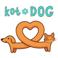 Логотип для сервиса зоодоставки KotDOG