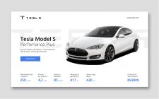 Банер Tesla Model S