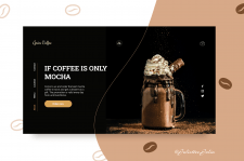 Дизайн первого экрана по продаже кофе.